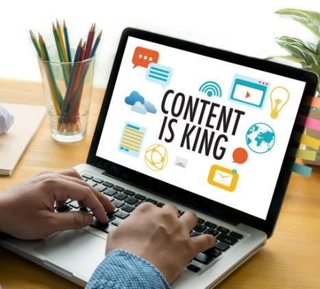 SEO strategy using laptop and editing content